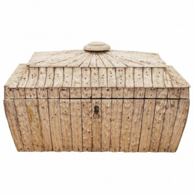 Indian Vizagapatam Antler Tea Box