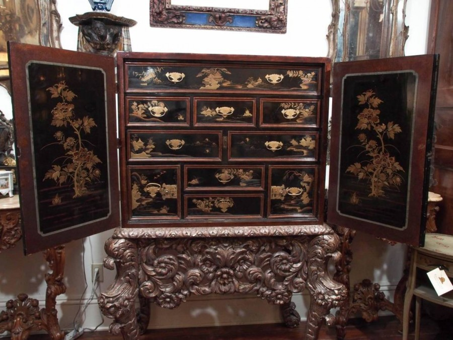Chinese Chinoiserie Spice Cabinet On Dutch Stand Kevin Stone Antiques  Interiors - Antique Spice Cabinets - Veterinariancolleges