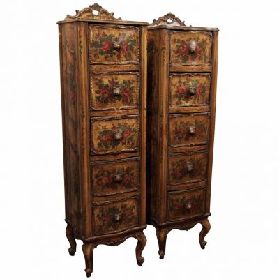 Pair of Venetian Semainier or Lingerie Chests