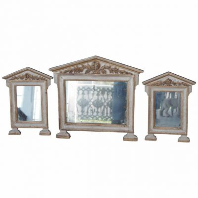 Three Italian Empire Painted and Parcel Gilt Mirrors