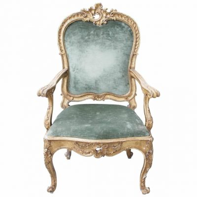 Giltwood Continental Rococo Armchair