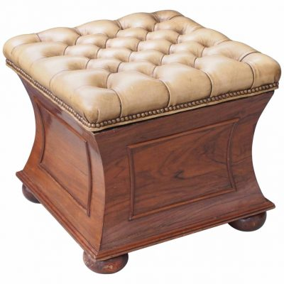 English William IV Rosewood Stool