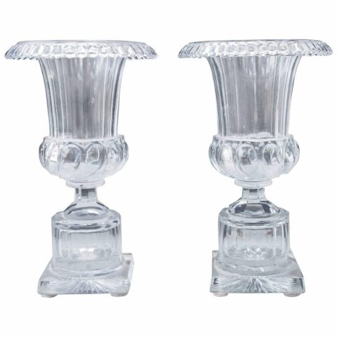 Pair of French Charles X Urn Form Vases