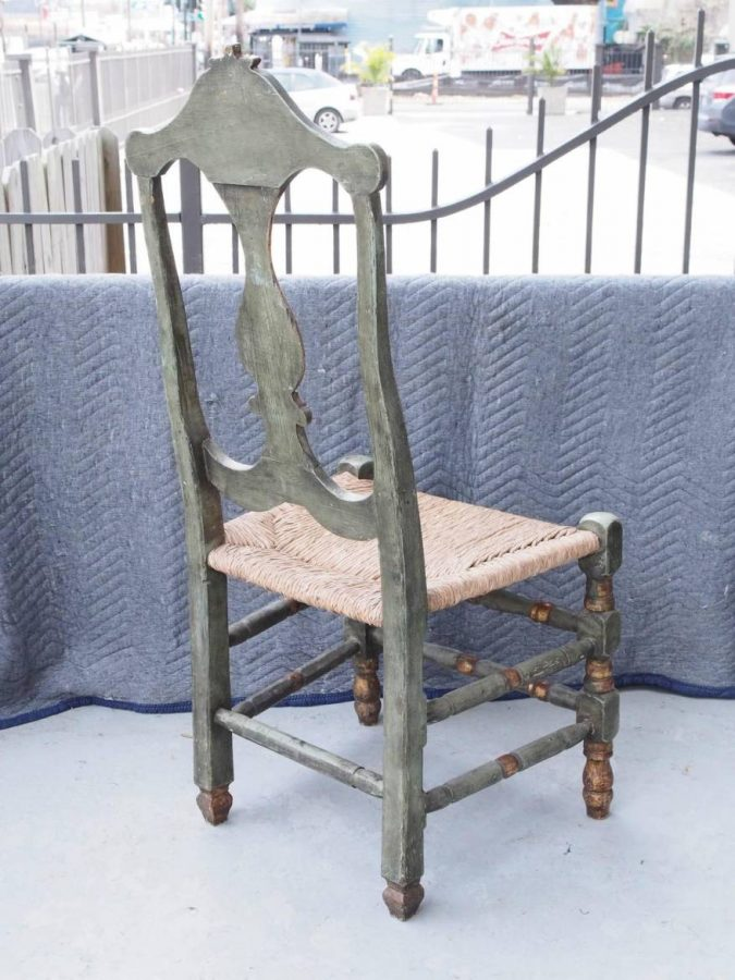 Set Of Ten Late 18th Early 19th Century Painted And Parcel Gilt Dining Chairs