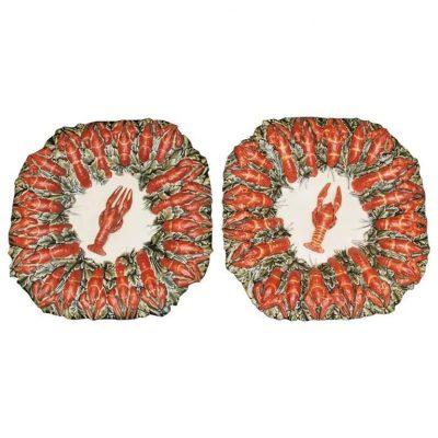 French Longchamps Crawfish Plates
