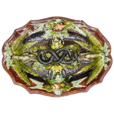 Portuguese Palissy Style Platter