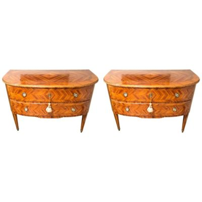 Pair of 18th Century Italian Louis XVI Commodes