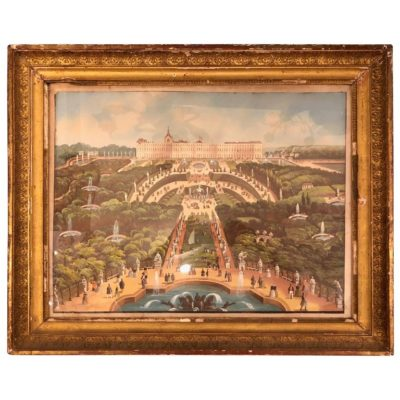 French 19th Century Gouache of Versailles