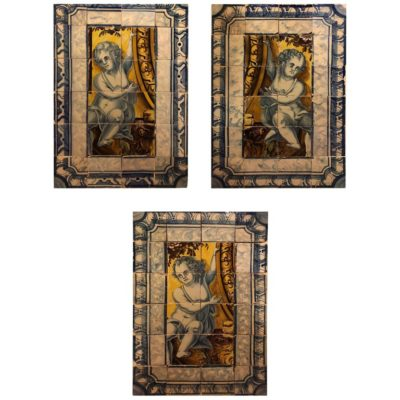 Three 18th Century Portuguese Tile Panels