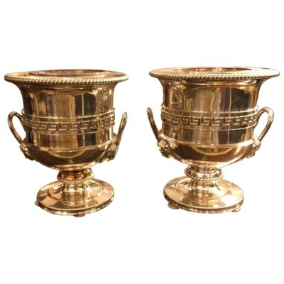 Pair of Sheffield Silver Wine Coolers