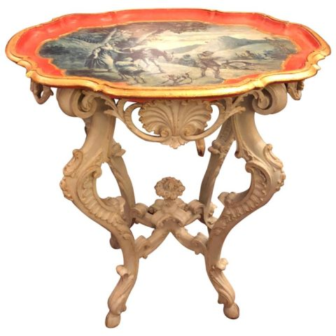 Italian Baroque Painted Piedmontese Table