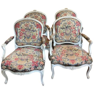 Suite of Four 18th Century Louis XV Fauteuil