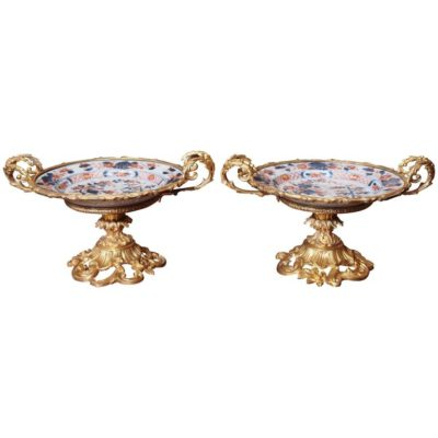 Pair of Bronze-Mounted Imari Plates