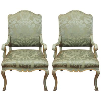 Pair of Italian 19th Century Painted Armchairs
