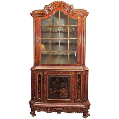 18th Century Italian Chinoiserie Cabinet with Two Doors