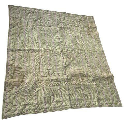 French Silk Pique Quilt, 18th Century