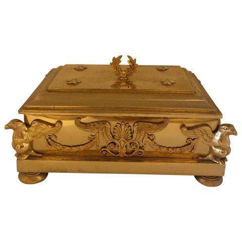 French Empire Gilt Bronze Box