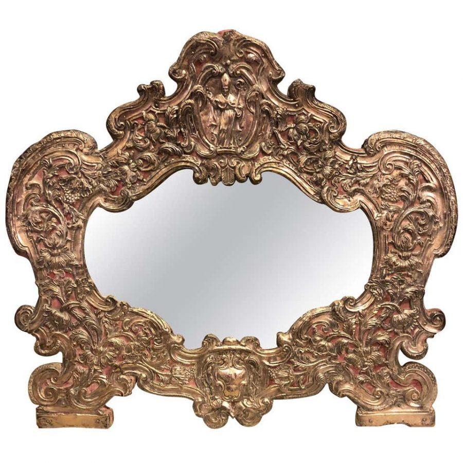 Italian Silver Table Mirror