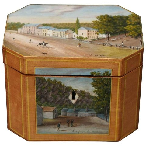 French Painted Tea Box