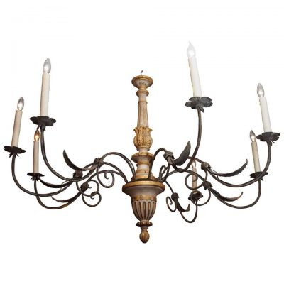 19th Century Tuscan Chandelier with Eight Lights