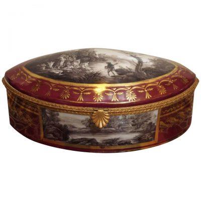 19th Century Porcelain Dresser Box